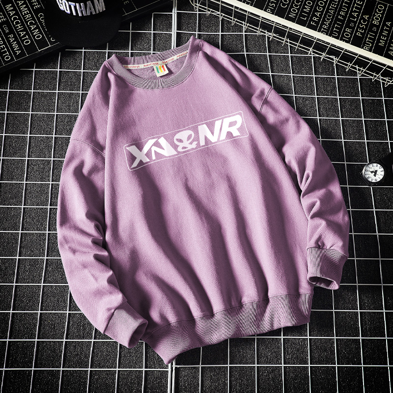 S-5XL �L袖T恤男士春季新款潮流�A�I��松大�a港ω�L男�l衣 W401-P38
