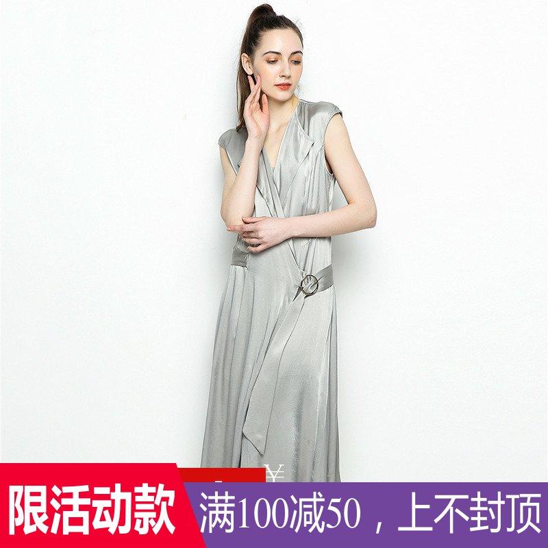 【100减50】YU系列高端女装品牌撤柜折扣店夏修身气质时尚连衣裙