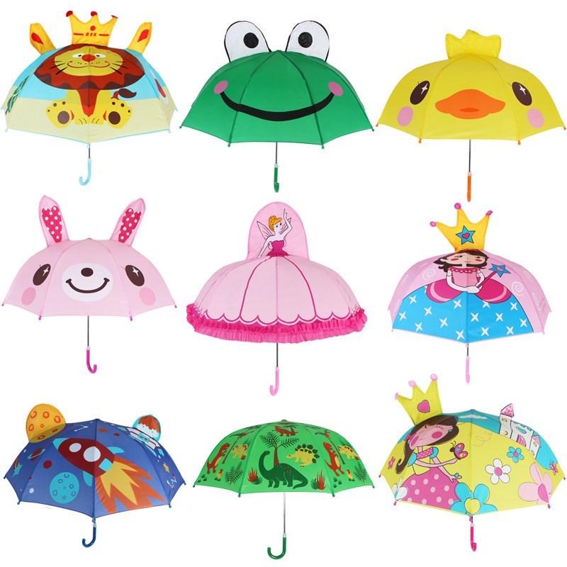 男女晴雨伞韩版男款1-2-3岁遮阳伞太阳伞小孩宝宝雨具青蛙安全长