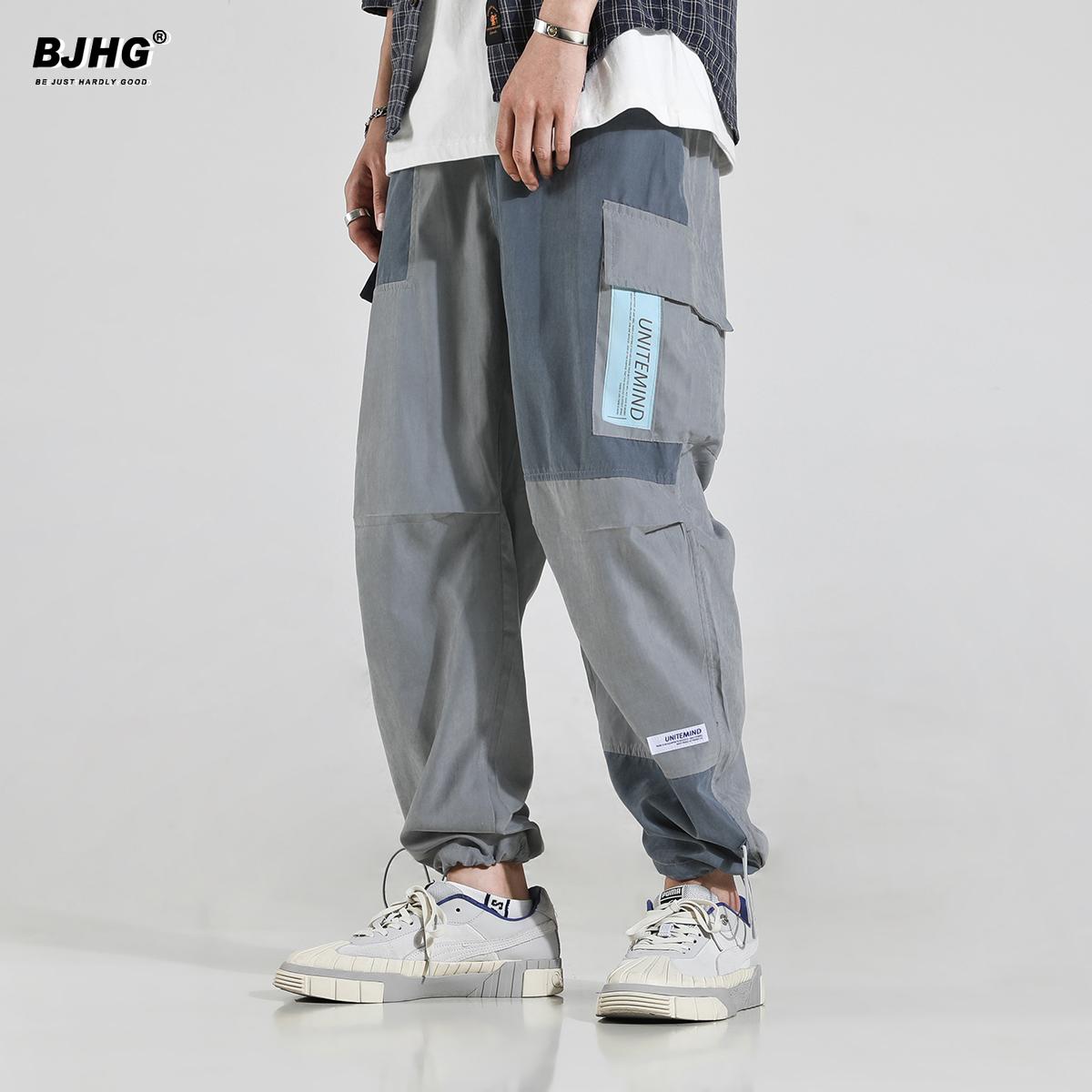 bjhg早秋休闲工装裤男国潮流哈伦裤(用71元券)