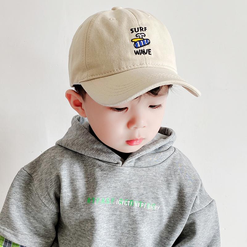 儿童帽子春秋季男童鸭舌帽韩版潮遮阳宝宝小孩女童棒球帽休闲百搭