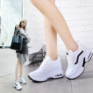 2020秋款新款内增高女鞋百搭运动鞋女士8cm增高透气小白鞋女秋季