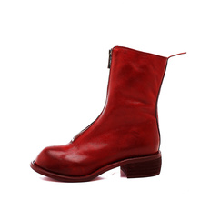 Autumn and winter guidi boots, ghost emperor boots, pl2 front zipper, middle boots, Martin boots, leather boots 310