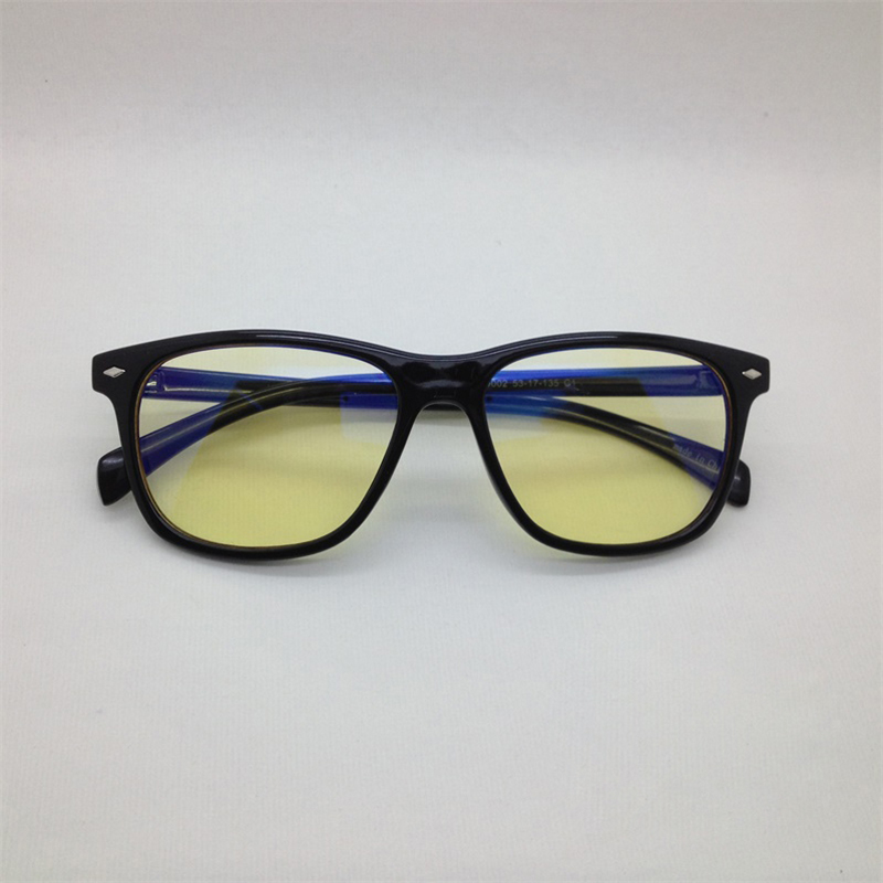 Mens and womens anti blue glasses, small face anti radiation and anti ultraviolet flat lens, middle-aged and elderly protective eyepieces, bright black