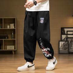 春夏季港风男裤子痞帅潮流嘻哈卫裤宽松束脚休闲运动长裤2072P30