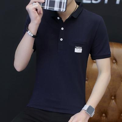 短袖男潮流polo衫新款半袖T恤夏季男装韩版修身纯棉上衣LG1718