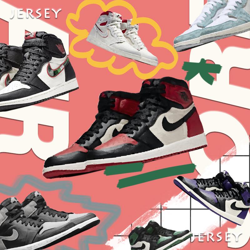 Jordan 1 OG  AJ1 乔1 画报 芝加哥黑粉 绿紫脚趾 禁穿 黑灰 鸳鸯