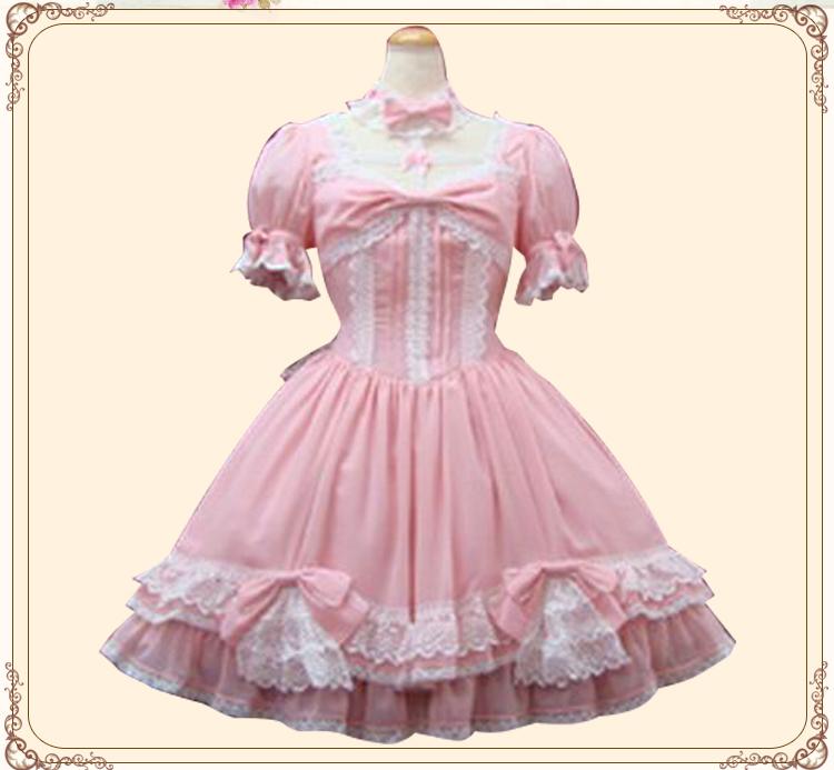 New summer and autumn 2017 Princess Lolita Dress Japanese cross hanging neck puffy long sleeve dress customization