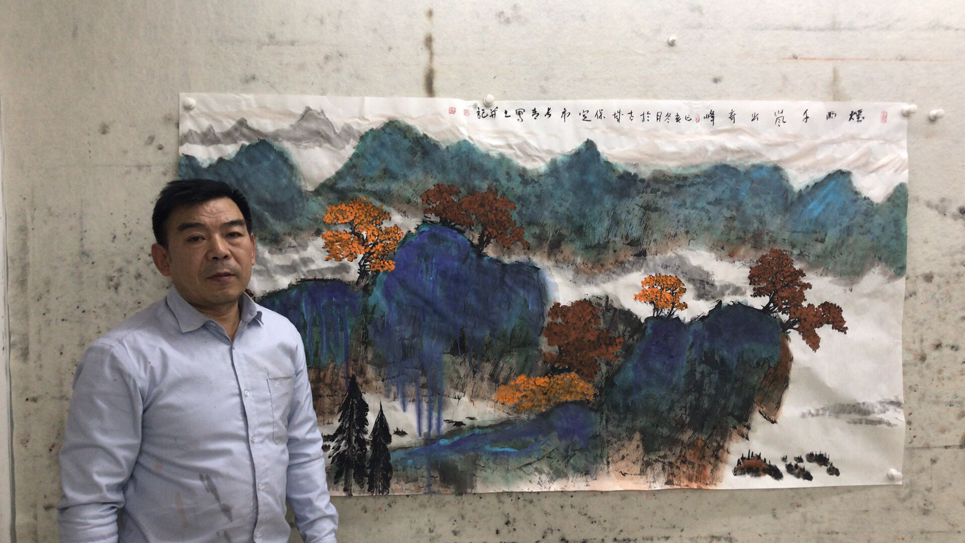 Famous painter Gao Changqings excellent painting landscape