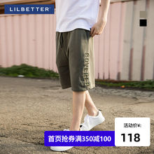 Lilbetter men's shorts summer casual beach trousers loose breeches original fashion brand five-point trousers men's workwear