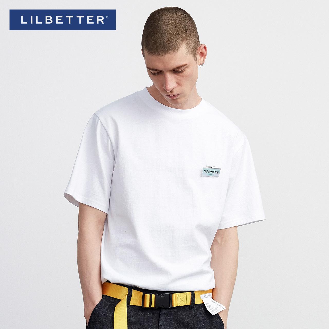 lilbetter簡約純色潮流圓領套頭t恤