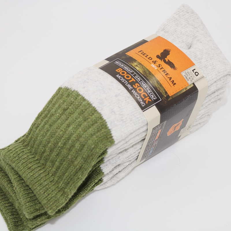 New field & stream winter extra thick all wool towel hoop 3 pairs of outdoor medium and long sleigh socks