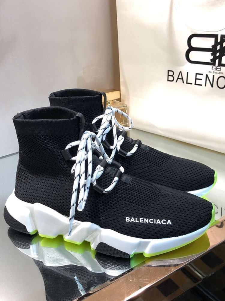 High top elastic sports shoes womens couple lace up socks 2021 new fashion casual flat bottomed overshoes mens shoes