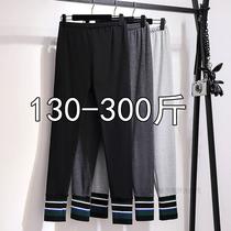 300斤特大码女装加肥200斤胖mm秋冬胖人加肥打底裤子高腰女裤240
