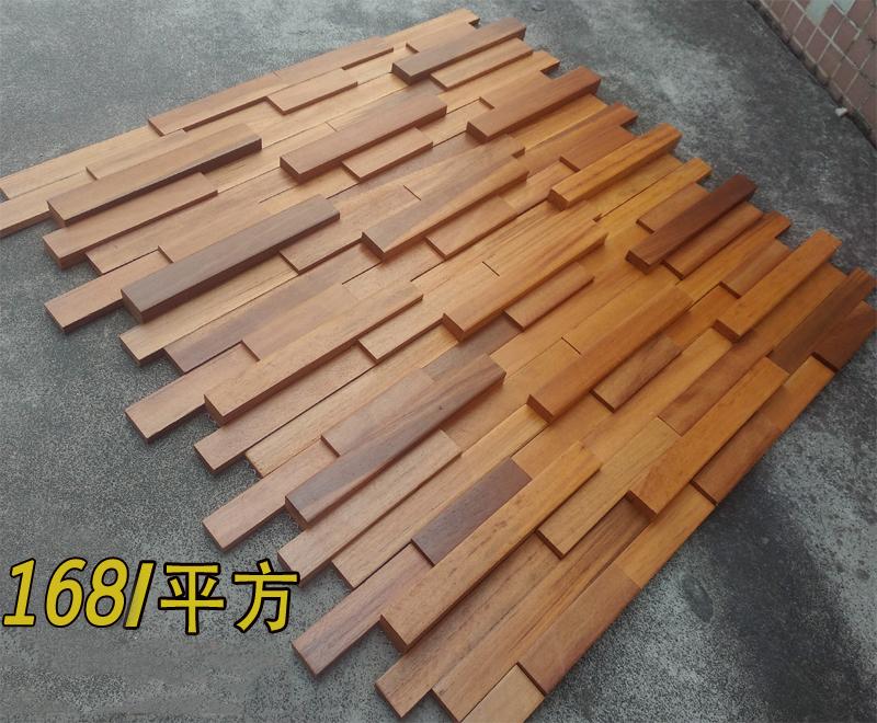木质实木马赛克电视背景墙原红木老船木客厅餐厅阳台墙面装饰材料