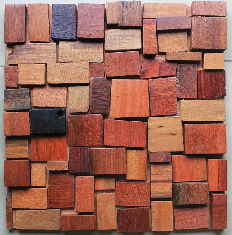 马赛克/古船木马赛克/背景墙马赛克/简约老船木/装潢装饰材料板