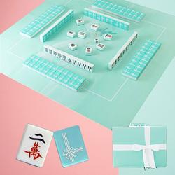 家用卡通机用便携小号水晶40麻将牌