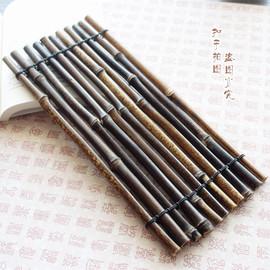 紫竹手编垫子   超复古道具 天然竹子拍摄背景 茶叶拍照道具摆设
