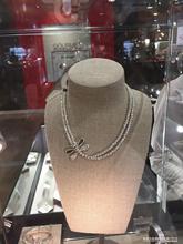双层项链女叠戴蜻蜓造型圆珠水晶50DE纯手工潮牌UNO西班牙