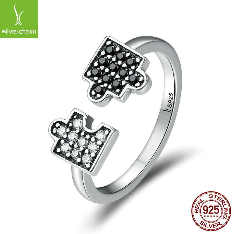 Yinziyun New Sterling Silver S925 Puzzle Ring womens adjustable ring personalized jewelry scr180