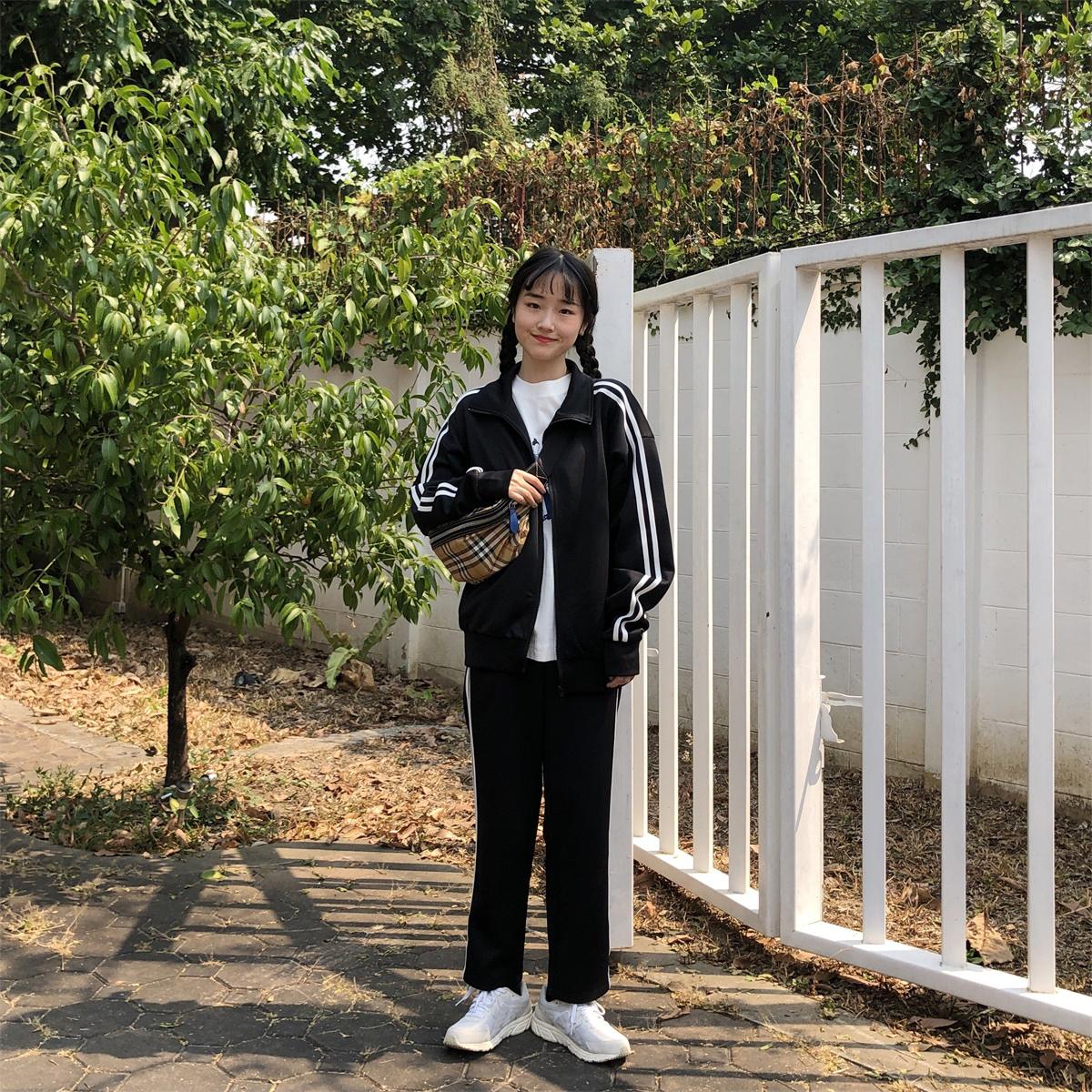 陆小团团韩版学生长袖外套两件套裤10-15新券