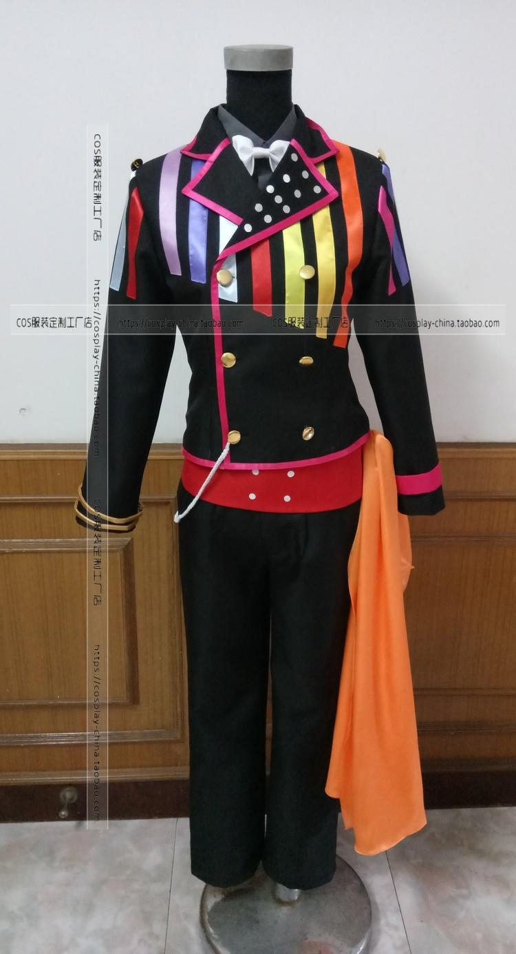 Cosplay animation clothing idolish 7 idol mens group 100 (black version) cos clothing