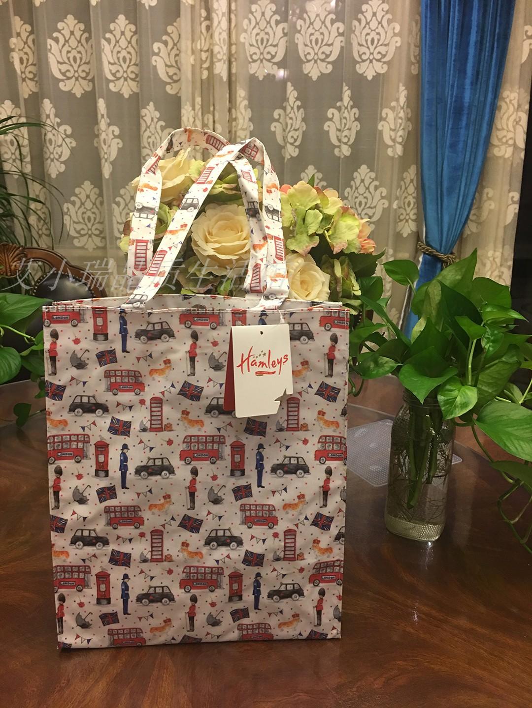2020hamleys英伦风防水棉布卡通拎包 购物袋 手提自习袋零食袋