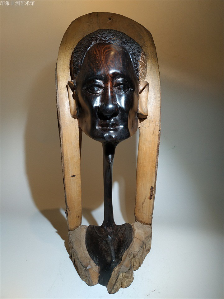 New value-added wood carving figures and figures wise ebony carving South Africa home decoration mahogany ornaments