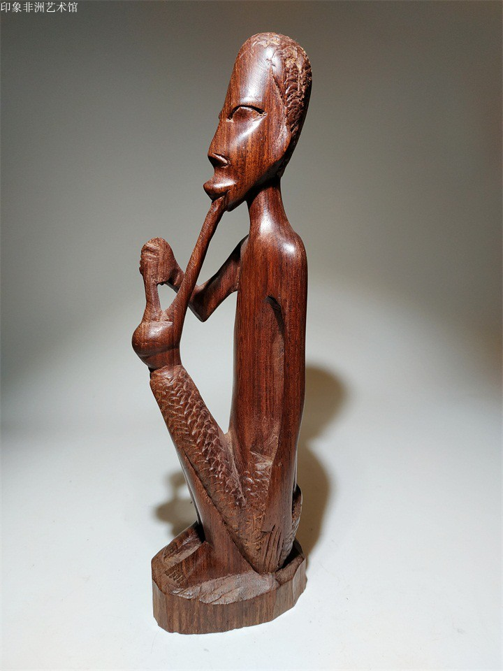 South Africas original imported woodcarving figure carving rose wood carving elderly wise home furnishings