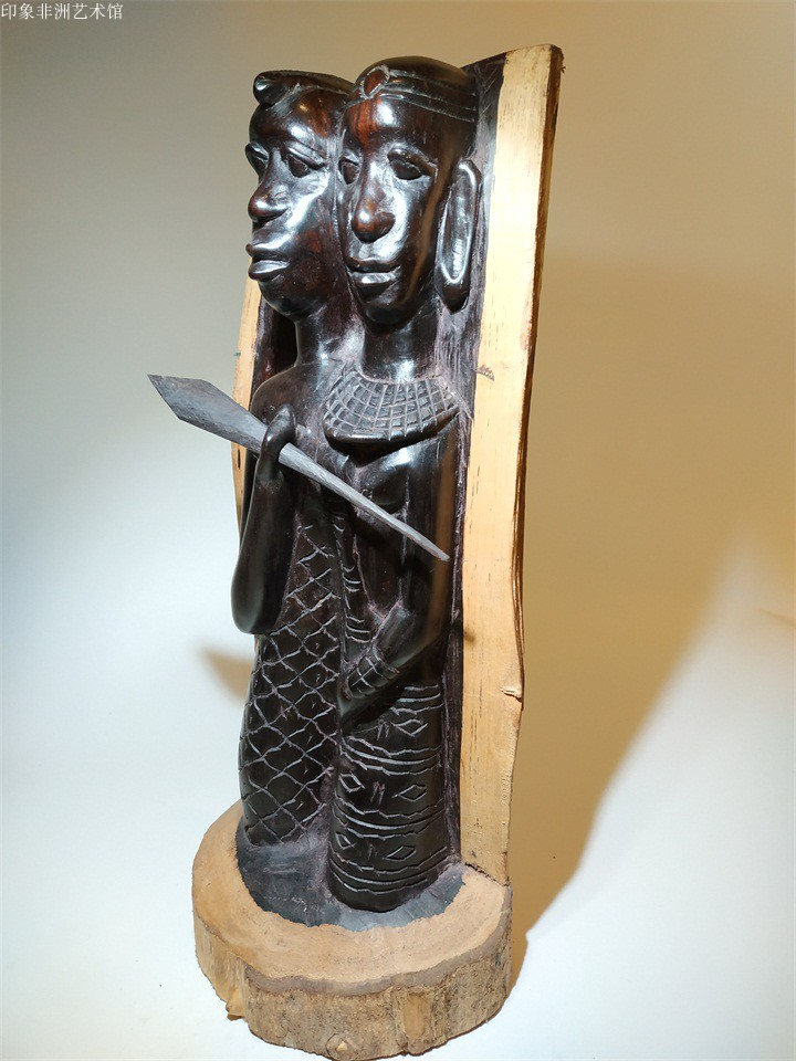 Black wood carvings imported from Africa