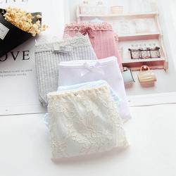 拍5免1 满35元包邮 断码合集纯棉牛奶丝蕾丝网纱仙女内裤