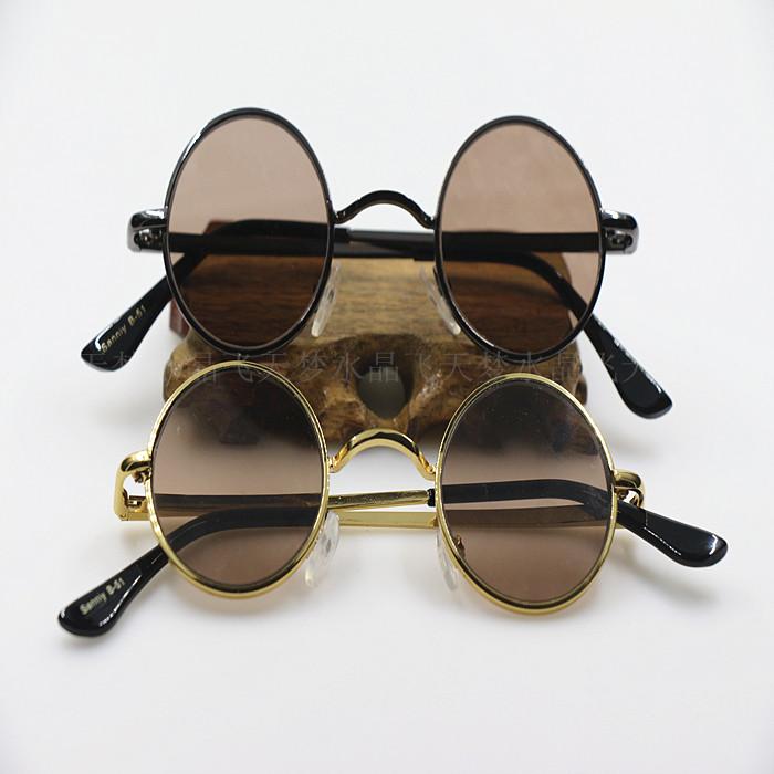 Natural crystal sunglasses retro mens round crystal sunglasses small round frame stone glasses retro goggles