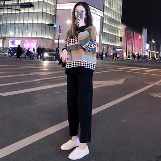 秋季女装2020年新款早秋洋气减龄微胖显瘦气质毛衣裤子套装两件套