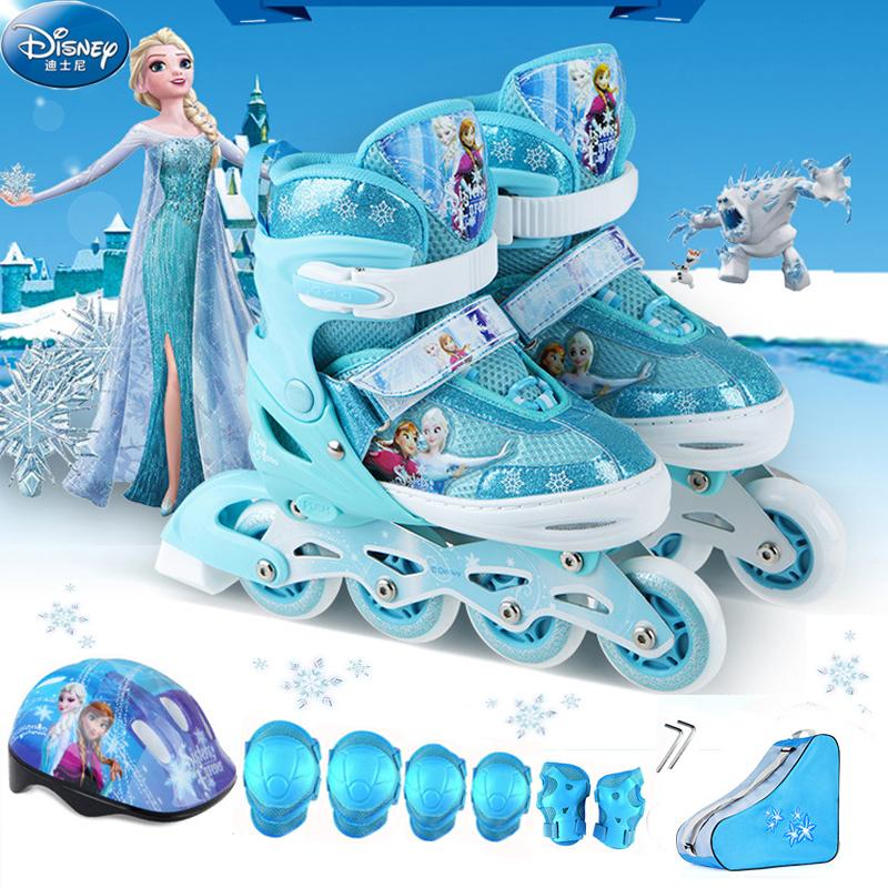 Disney childrens full set roller skates mens and womens straight adjustable flash roller skates