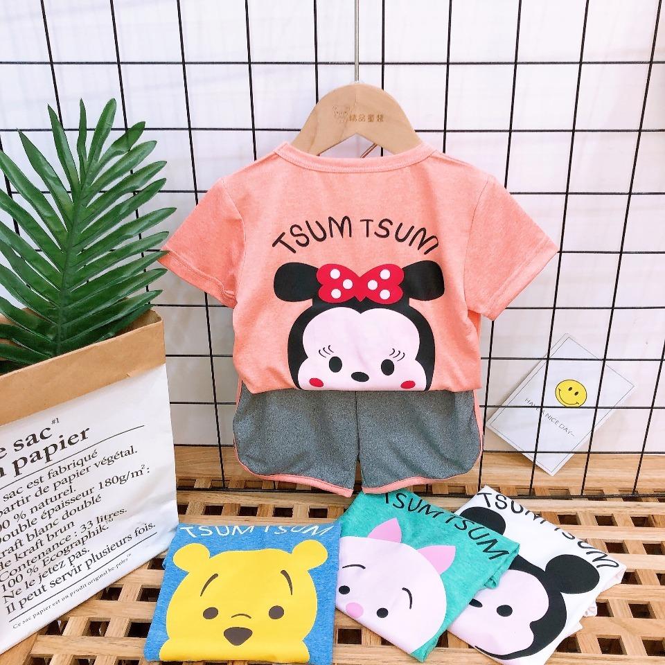 儿童半袖套装 男童宝宝夏服衣服速干衣户外运动服女童幼儿园短袖图片