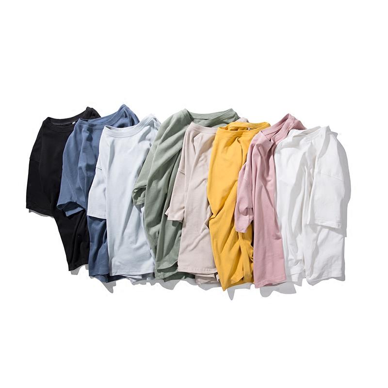 gboy夏季日系打底纯色短袖水洗t恤五折促销