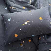 枕套单件纯棉全棉加厚单双人床品枕套无印简约碎花田园粉色定做