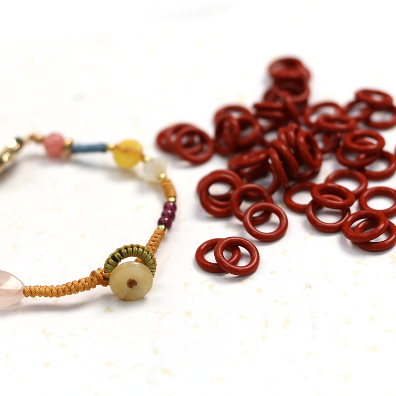 Hand made DIY braided elastic button silicone elastic ring bracelet pendant finishing accessories button elastic ring