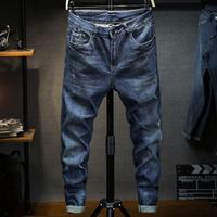 查看夏季薄款牛仔裤男大码宽松小脚高弹力显瘦胖子潮牌加肥加大码男装价格