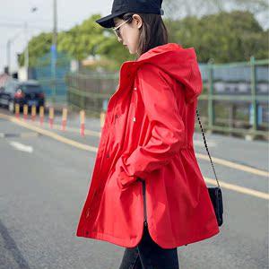 冲锋衣女西藏春秋户外服收腰连帽运动风衣外套中长款防风防水潮牌