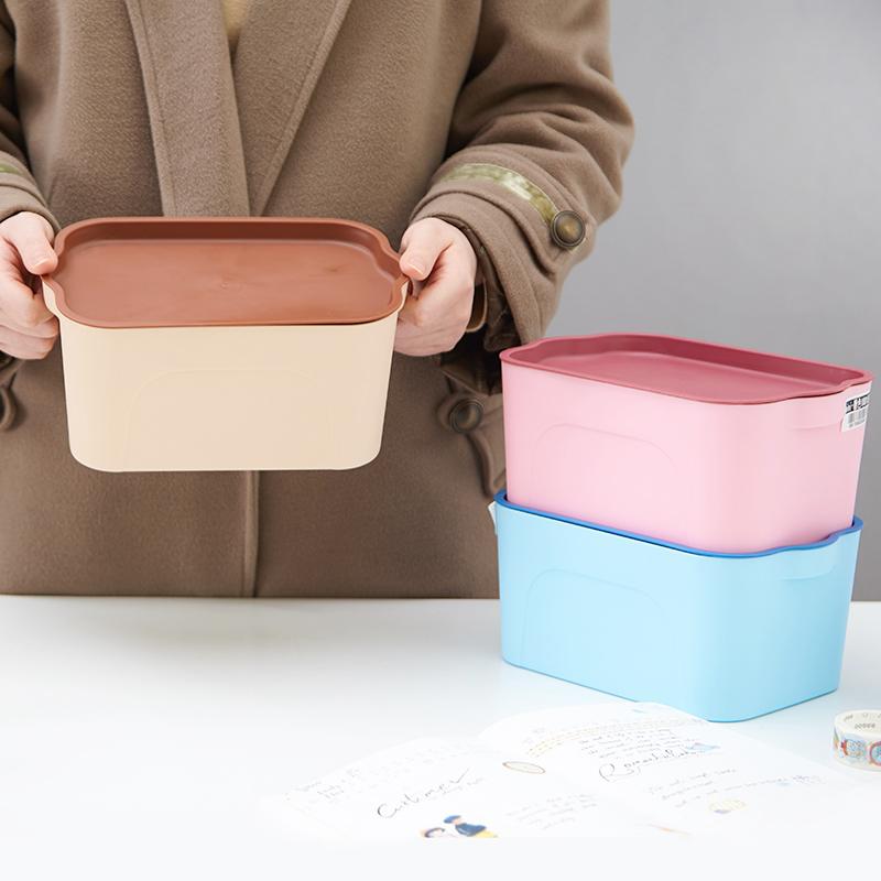 加厚特大號有蓋塑料磨砂收納箱 抽屜整理盒 玩具零食內衣儲物箱