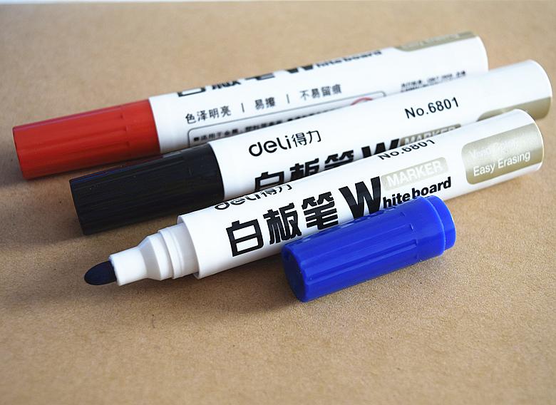 Deli/ компетентный мысль достигать NO.6801 белая доска карандаш большой потенциал белая доска ручка легко вытирать белая доска карандаш супер хороший запись