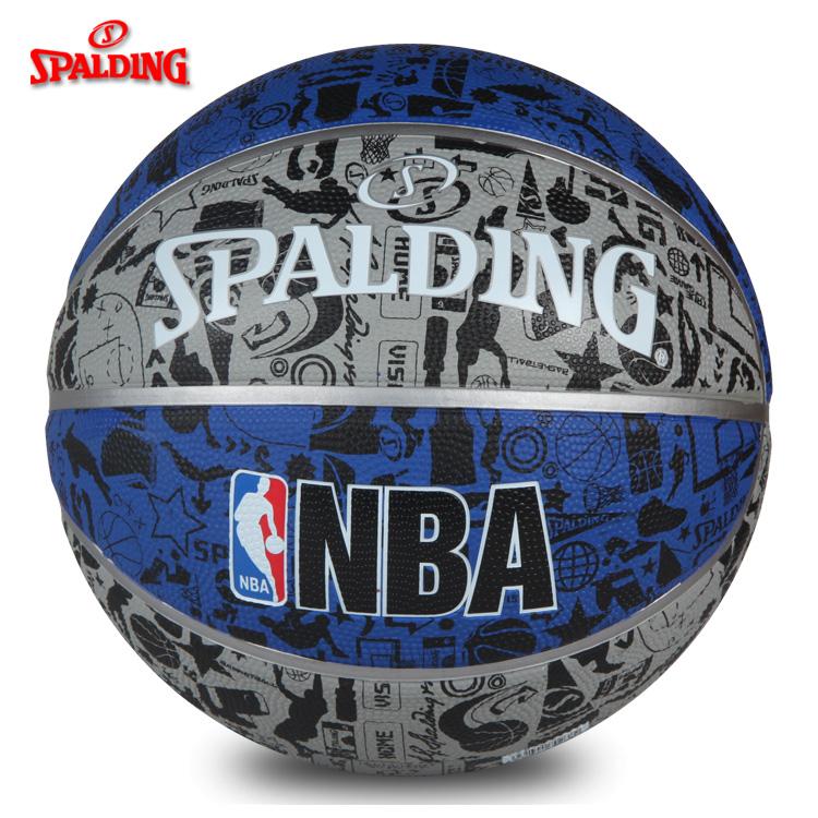 斯伯丁正品83-176Y学生比赛室外室内耐磨水泥地7号篮球蓝球lanqiu图片