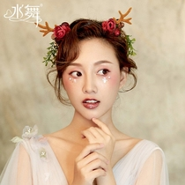 Water Dance Bride Day Mason female antlers hair hoop photo prop elk Head Hoop Christmas Headwear Hair decoration B1742