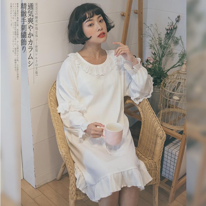有点儿玛丽苏!日系甜美花边睡裙