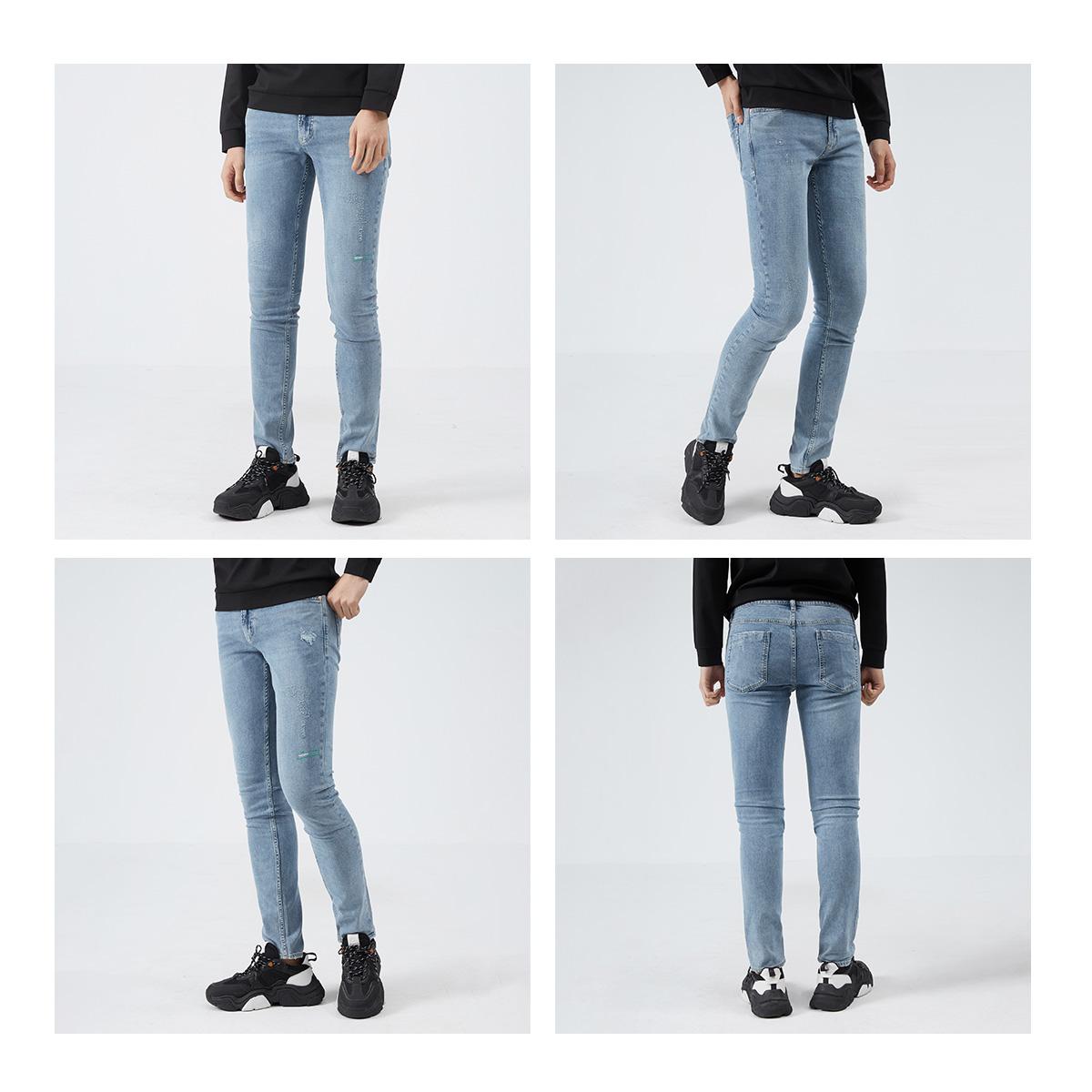 利郎官方男潮裤子低腰做旧牛仔裤质量怎么样