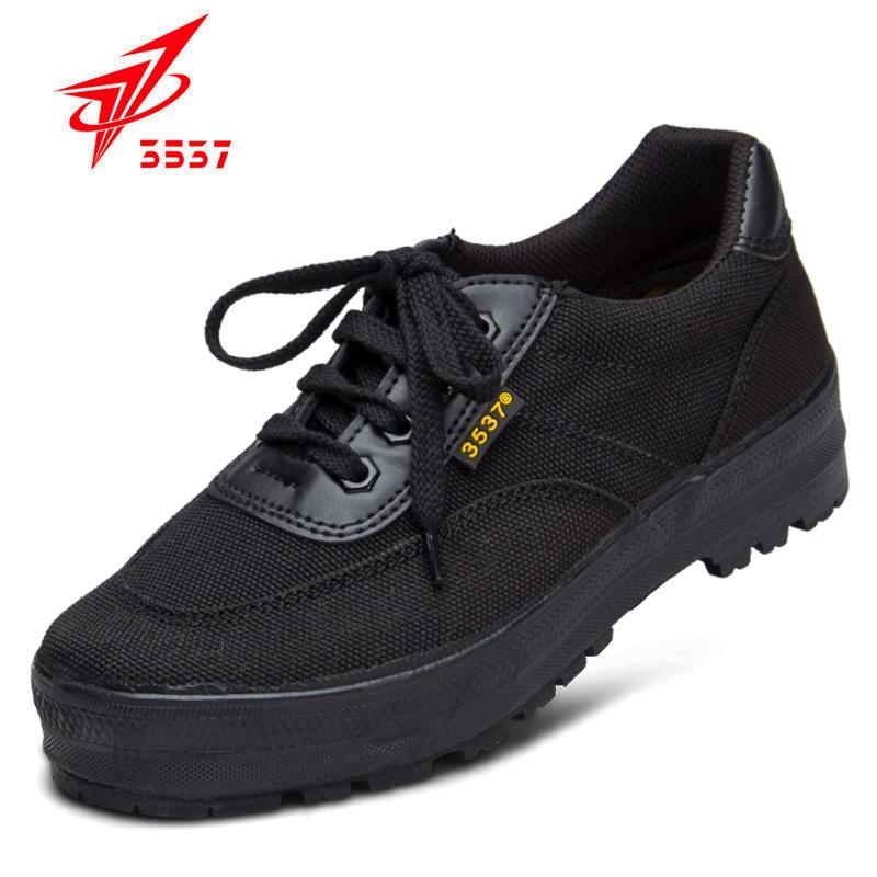 3537正品解放鞋男特种兵军鞋耐磨工地帆布胶鞋男黑色作训鞋跑步鞋