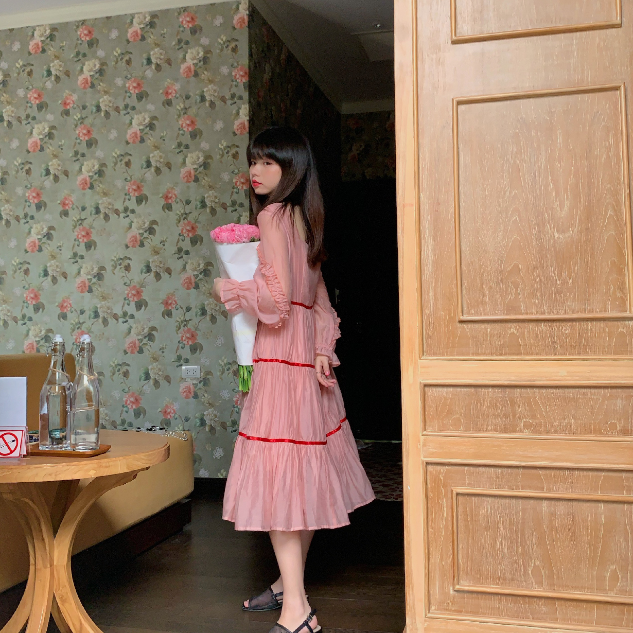 浪漫指蓝2020新款超仙粉色公主裙