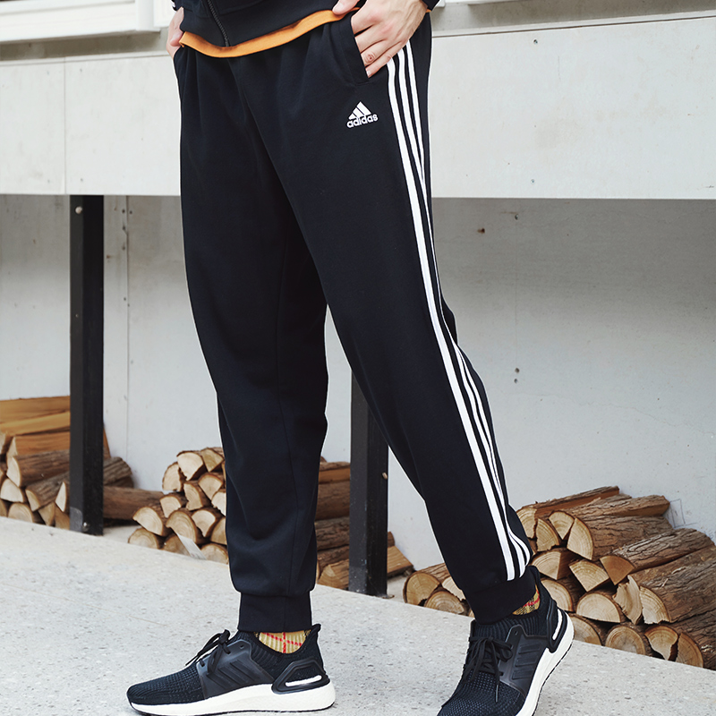 Adidas pants men's spring and winter sports pants pants small leg closing loose basketball running corset casual pants