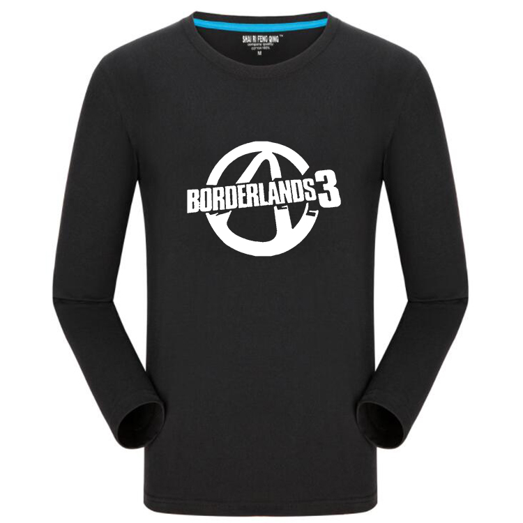 Land of no owners 3 shooting game borderlands surrounding casual fashion T-shirt long sleeve culture shirt